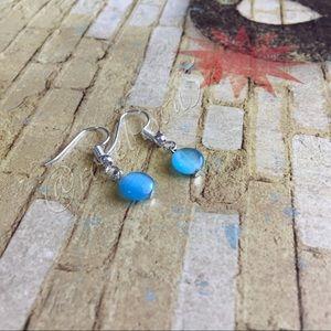 Jewelry - 🆕! Aqua Glass Bead Dangle Earrings